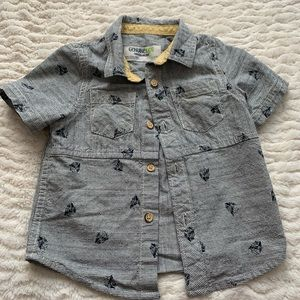 Toddler surfer button up